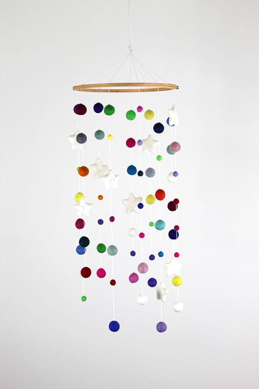 Kiekepiep Houten mobiel multicolor